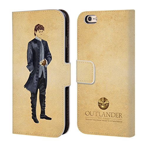 Official Outlander Jamie Coat Painted Images Leather Book Wallet Case Cover for iPhone 6 / iPhone 6s