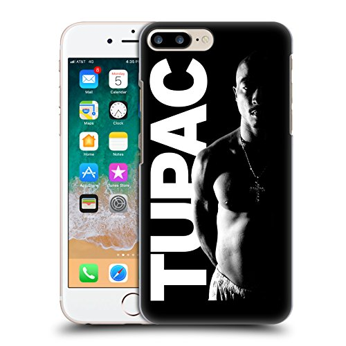 Official Tupac Shakur Black And White Key Art Hard Back Case for Apple iPhone 7 Plus (Black And White Art Design)