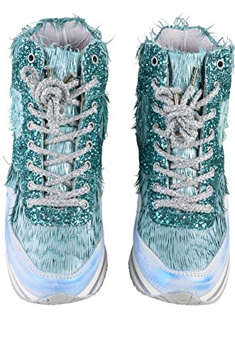 Gold Verde 35 Donna Sneaker Shoes 2star Blu Pelle In Da Turchese 1xq1rnC