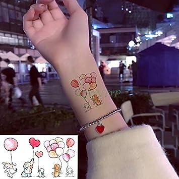 tzxdbh Impermeable Tatuaje Temporal Pegatina Elefante Conejo Globo ...