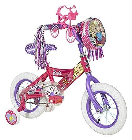 032296e79bf Amazon.com : Dynacraft Barbie Girls Mini Street Bike 12