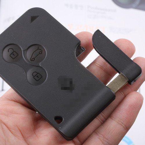 3 Buttons Remote Key Shell Uncut Blank Keyless Entry Fob Case for Renault megane