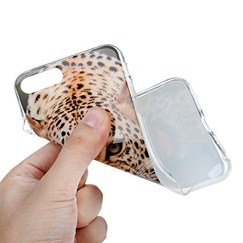 """iPhone 7 Plus Hülle Case YOKIRIN Premium TPU Silikon Case Cover Handytasche Handyhülle Etui Softcover Tasche Schutzhülle Schale für iPhone 7 Plus (5.5"""")Leopard"""