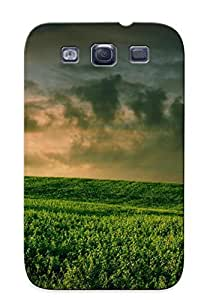 Protection Case For Galaxy S3 / Case Cover For Galaxy(green Abstract Nature Trees Grass Balloons )