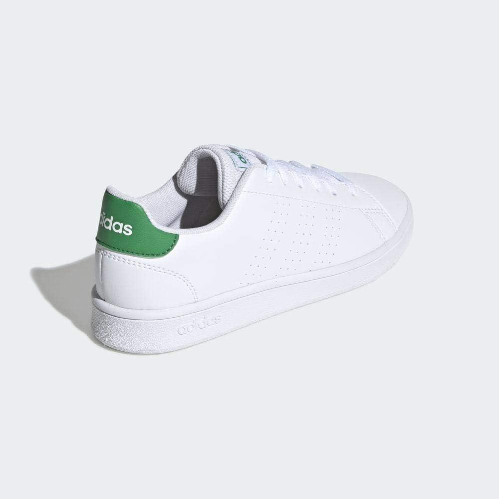 adidas Advantage K, Chaussures de Tennis Mixte Enfant Multicolore (Ftw Bla/Verde/Gridos 000)