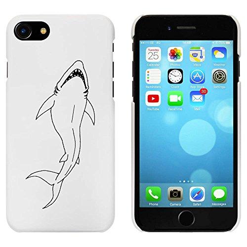 Blanc 'Requin Féroce' étui / housse pour iPhone 7 (MC00069630)