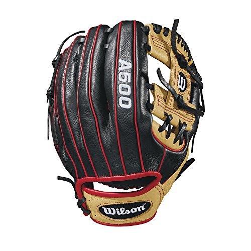 Wilson 2018 A500 Gloves - Left Hand Throw Blonde/Black/Red, 11'' by Wilson