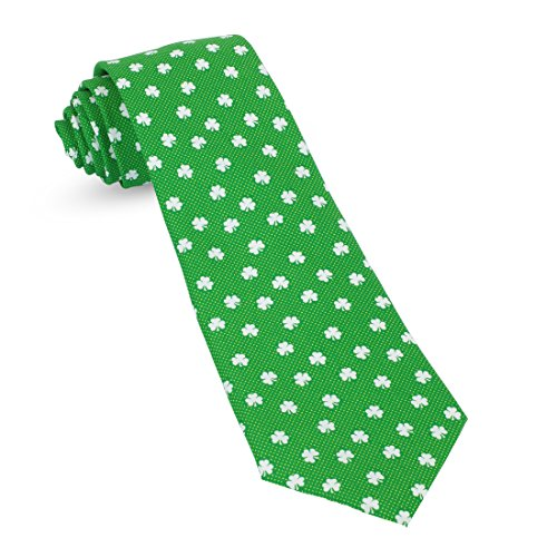 St Patricks Day Irish Green Mens Premium Woven Conversational Novelty Neckties | Microfiber Ties For Men: Fun, Sophisticated – Stylish Accessory – Unique Designs And Patterns - Irish Silk Tie