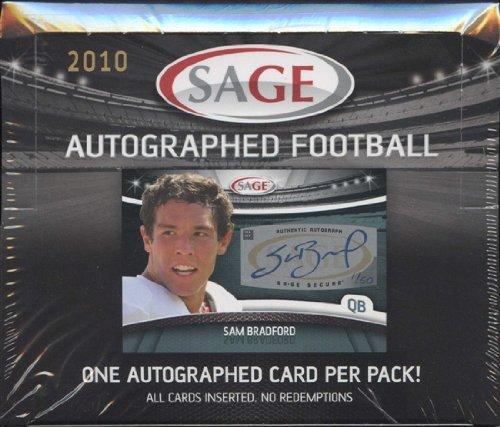 Sage Autograph Football Hobby Box (2010 SAGE Autograph Football box)