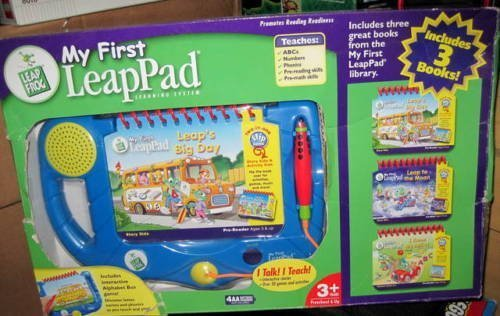 My First LeapPad Learning System Including 3 Books - Leap's Big Day, Leap to the Moon & I Know My ABC's by LeapFrog