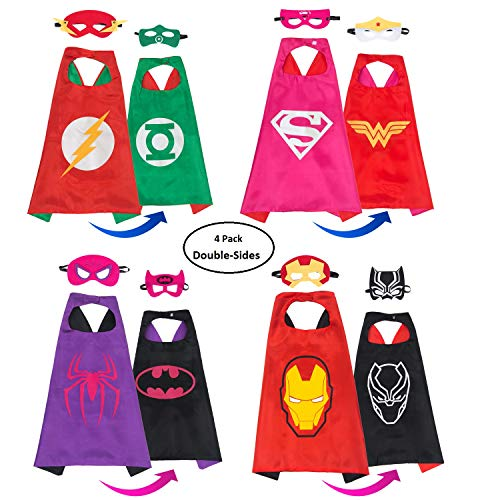 MIJOYEE Dress up Costume Set Superhero Satin Capes
