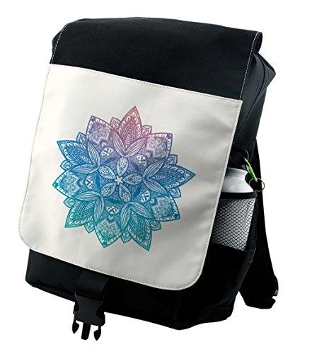 Lunarable Gypsy Backpack  Mandala Boho Paisley Petals  Durable All Purpose Bag