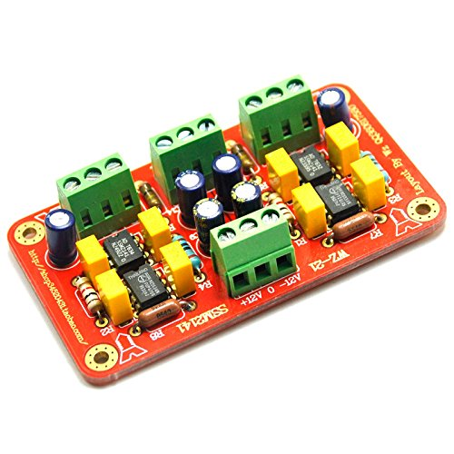 SSM2141 Dual Channel Preamplifier Board Balanced to unbalanced Signal Amplifier