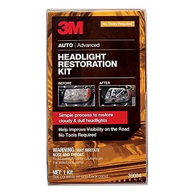 3M Headlight Restoration Kit, Simple Process to Restore Cloudy & Dull Headlights, Hand Application, 1 Kit (39084): Automotive