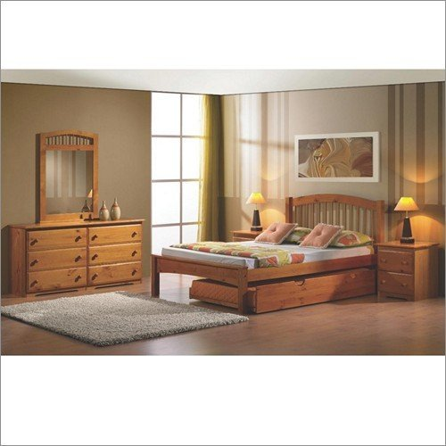 Arch Spindle Bed in Honey Full Bed