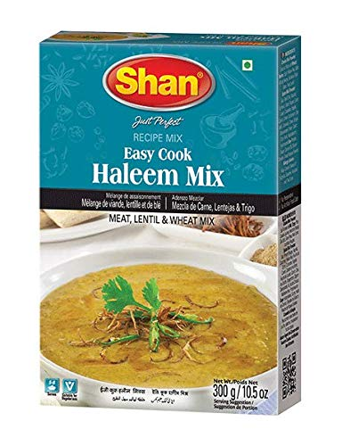 Shan Easy Cook Haleem Recipe and Seasoning Mix- 300g Spice Powder, Meat and Lentil Mix