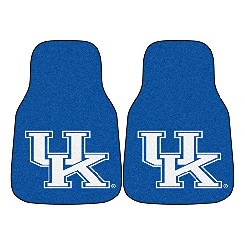 FANMATS NCAA University of Kentucky Wildcats Nylon Face Carpet Car Mat