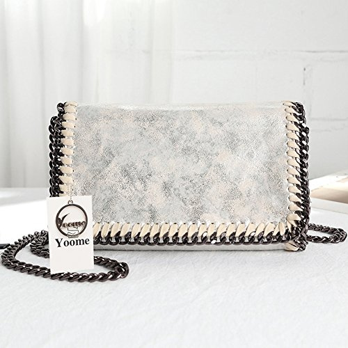 Ladies Shoulder Silver Woven Chain Bags Stylish Yoome Women Clutch Designer For Purse UfWqvw