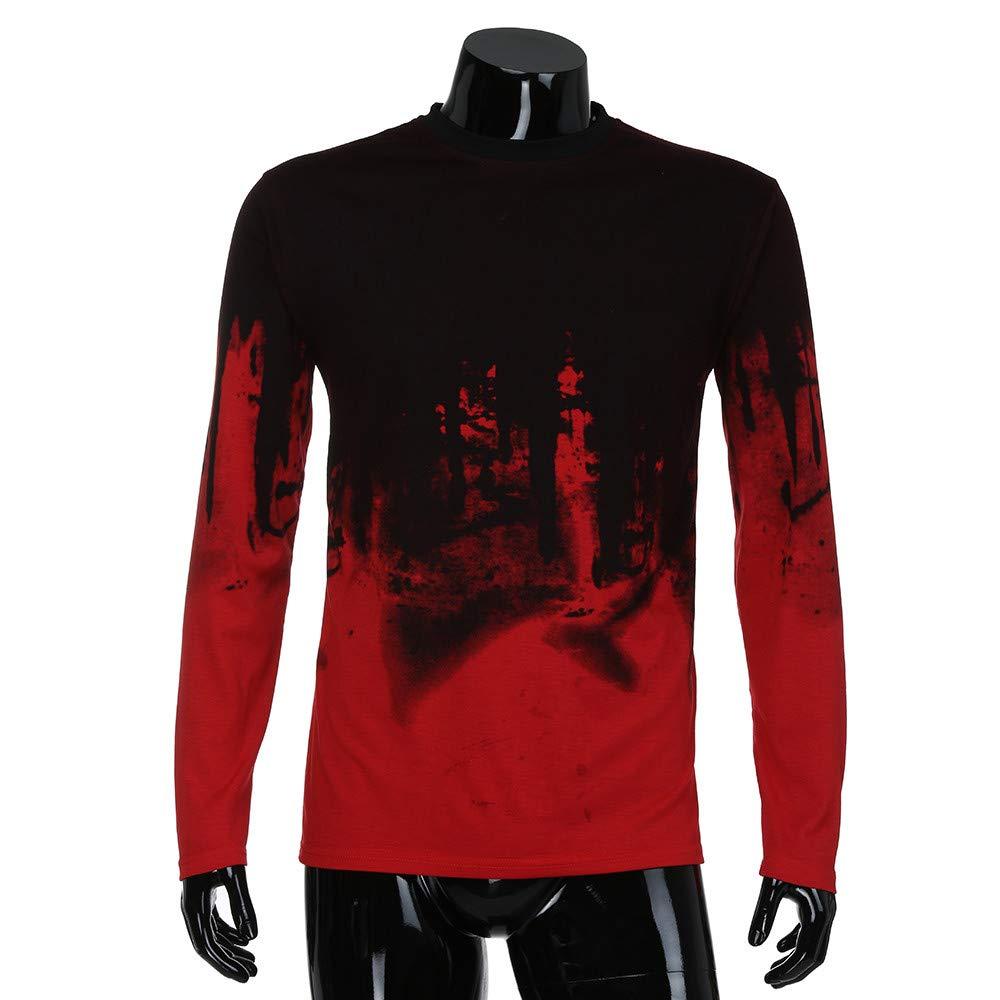 21fd65f6 ... Big Teresamoon Men Gradient Color Long-Sleeve Beefy Muscle Basic Solid Blouse  Tee Shirt Top ...