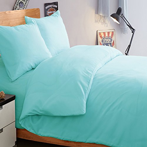 NTBAY 3 Pieces Duvet Cover Set Solid Color - Twin Duvet Covers Solid