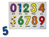 Melissa & Doug ABCs and 123s Wooden Peg Puzzles Set With Puzzle Keeper Stretchy Cover