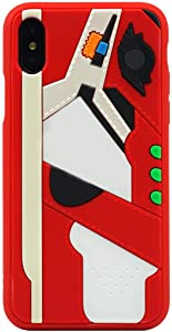 3D Hypebeast Red Chicago Designer Inspired Phone Case Full Protective Soft Grip Textured Shock Absorbing Protective Fashion Case Compatible with iPhone 7 Plus Case, iPhone 8 Plus Case