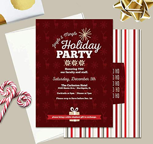 Corporate Holiday Party Invitations - Holiday Party Invitation, Office Party Invitation