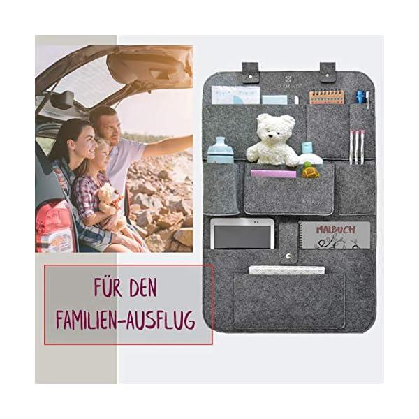 51qkn3soTkL IXXMIND® auto organizer, Wohnmobil Zubehör, autositzschoner, rückenlehnenschutz auto kinder, rücksitztasche, hängeregal…