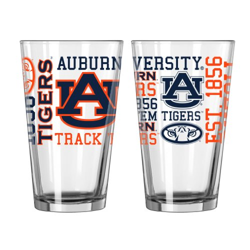 Ncaa Auburn Tigers Team Glass (NCAA Auburn Tigers Pint Glass, 16-ounce, 2-Pack)