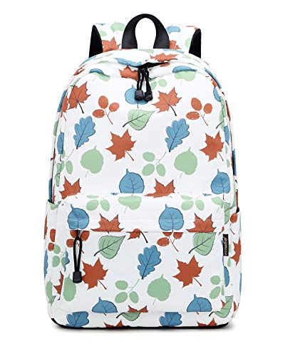 Joymoze Fashion Backpack for Women College School Bag Fit for 15.6 Inches Laptop Maple Leafs