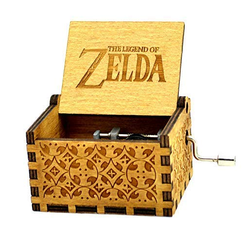 (Sooye The Legend of Zelda Music Box- 18 Note Mechanism Antique Carved Wood Gifts (Zelda))