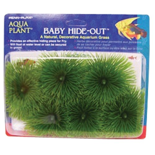 Penn Plax Fish Breeding Grass - Baby Hideout, Safe Hiding for Fry - Decorative Aquarium Grass - Fish Breeding Supplies