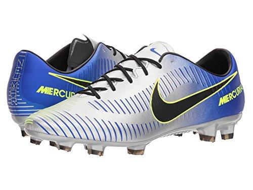 蒸発する式失態(ナイキ) NIKE メンズサッカーシューズ?インドア?靴 Mercurial Veloce III NJR FG Racer Blue/Black/Chrome/Volt 12 (30cm) D - Medium