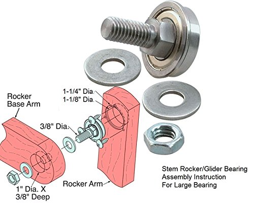 Stem Rocker Bearing Assembly Bearing 1-1/8
