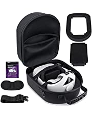 Hard Case for Oculus Quest 2 Headset & Accessories, Compatible with All Elite Straps - Official/Third Party Versions, Protective Storage Case for Gaming Devices Fit SARLAR Case Dimensions