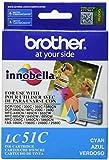 Brother Innobella LC51C Ink Cartridge, 400 Page Yield, Cyan