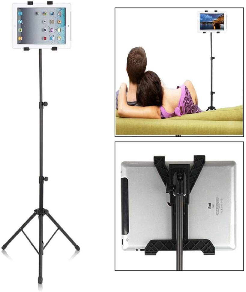 KANEED Adjustable Tablet Tripod Stand for iPAD 2 3 4 Air Mini//Galaxy Note 10.1