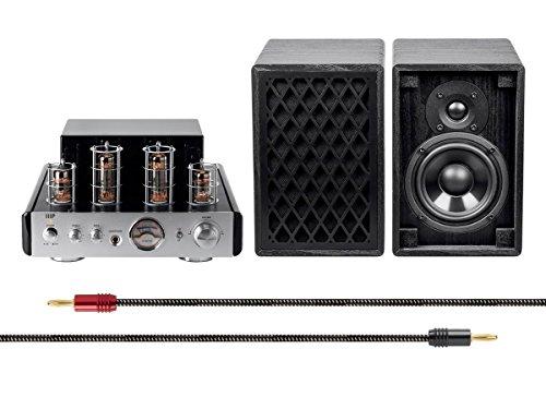 Monoprice Stereo Tube Amp Audio Component Amplifier, Silver (116158) Monoprice Inc.