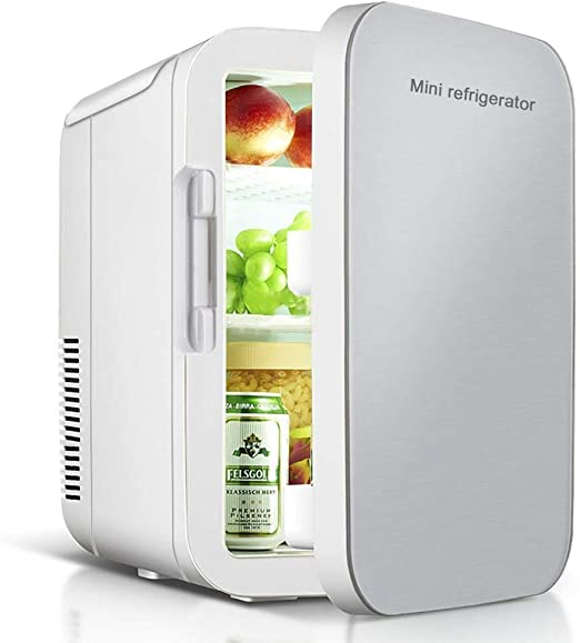 Mini Refrigerator For Bedroom Office Compact Cooler//Warmer Mini Fridge for Cars Road Trips Homes Offices and Dorms