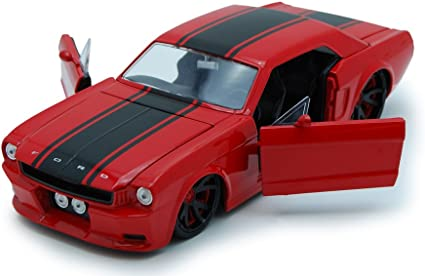JADA 1965 FORD MUSTANG WHITE NEW RIM NEW IN BOX 1//24 Diecast Car 96895