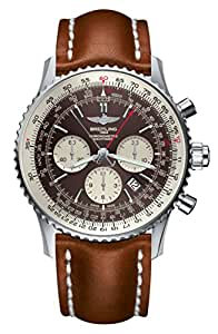 Mens Breitling Navitimer Rattrapante Bronze Watch AB031021, Light Brown Gold Leather Strap, Tang Buckle