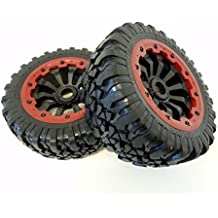 King Motor X2 Wheels (red) (set of 2) Fits LOSI 5IVE T and Rovan LT 4WD Truck by King Motor RC