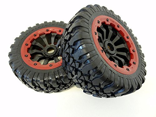King Motor X2 Wheels (red) (set of 2) Fits LOSI 5IVE T and Rovan LT 4WD Truck