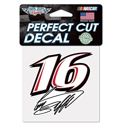 Official NASCAR 4 inch x 4 inch Die Cut Car Decal by 853073 ()