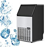 Best Ice Makers - Costzon Built-In Stainless Steel Commercial Ice Maker Portable Review