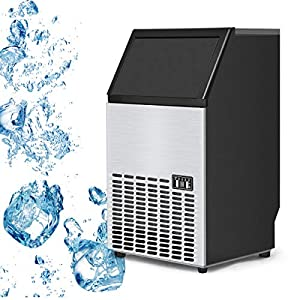 Costzon Built-In Stainless Steel Commercial Ice Maker Portable Ice Machine Restaurant 51qkr7zmxWL