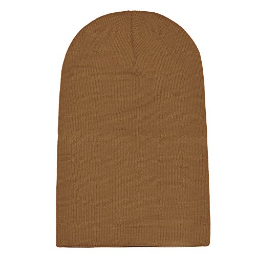 DonDon y de de abrigo invierno gorro beanie moderno clásico gorro Kaki suave diseño slouch rrpqP4