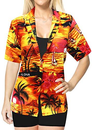 Bouton Femmes LA enne LEELA Chemise Orange hawa w930 ZxX6qzA6Hw