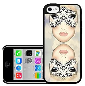 Colorful Makeup Face Chart with Hearts Hard Snap on Phone Case (ipod touch4)