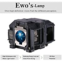 eWos Replacement Projector Lamp for Epson v13h010l67 W12 S12 EX5210 EX7210 EX3210 VS210 Elplp67 Replacement Projector Lamp Bulb